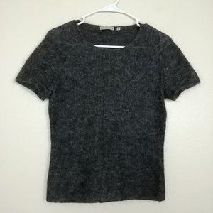 Ann Klein Wool Blend Sweater Short Sleeve S #3454